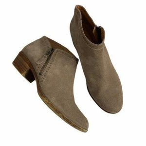 Lucky Brand Benna Suede Ankle Booties Size 8